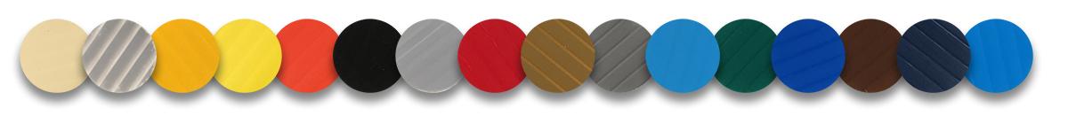 Multiple choix de couleur pour les plastiques corrugués